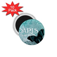 Paris Butterfly 1 75  Button Magnet (10 Pack) by zenandchic