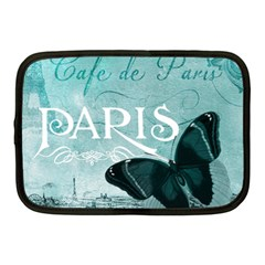 Paris Butterfly Netbook Sleeve (Medium) by zenandchic