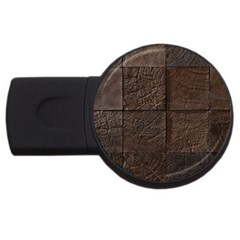 Wood Mosaic 4GB USB Flash Drive (Round) by chivieridesigns