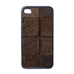 Wood Mosaic Apple Iphone 4 Case (black) by chivieridesigns