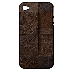 Wood Mosaic Apple Iphone 4/4s Hardshell Case (pc+silicone) by chivieridesigns