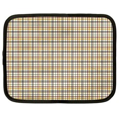Plaid 4 Netbook Sleeve (XXL) by chivieridesigns