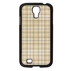 Plaid 7 Samsung Galaxy S4 I9500/ I9505 Case (black) by chivieridesigns