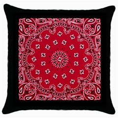Bandana Black Throw Pillow Case by chivieridesigns