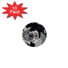 Venetian Mask 1  Mini Button (10 Pack) by StuffOrSomething