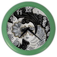 Venetian Mask Wall Clock (Color)