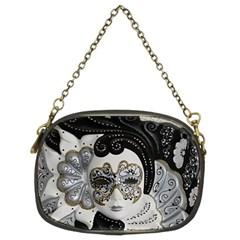 Venetian Mask Chain Purse (two Sided)