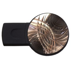 Copper Metallic Usb Flash Drive Round (2 Gb) by CrypticFragmentsDesign