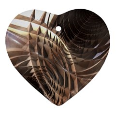 Copper Metallic Heart Ornament (two Sides) by CrypticFragmentsDesign
