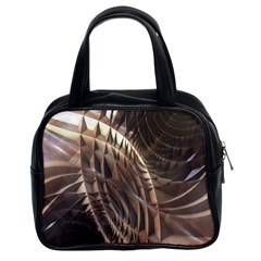 Copper Metallic Classic Handbag (two Sides) by CrypticFragmentsDesign