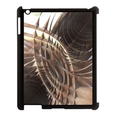 Copper Metallic Texture Abstract Apple iPad 3/4 Case (Black) by CrypticFragmentsDesign