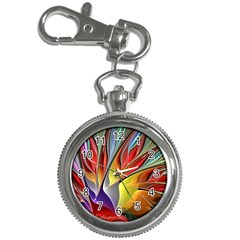 Fractal Bird Of Paradise Key Chain Watch by WolfepawFractals