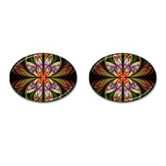 Rainbow Elliptic Splits Cufflinks (Oval)