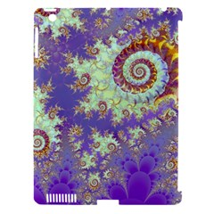 Sea Shell Spiral, Abstract Violet Cyan Stars Apple Ipad 3/4 Hardshell Case (compatible With Smart Cover) by DianeClancy