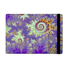 Sea Shell Spiral, Abstract Violet Cyan Stars Apple Ipad Mini Flip Case by DianeClancy