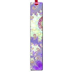 Sea Shell Spiral, Abstract Violet Cyan Stars Large Bookmark by DianeClancy