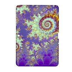 Sea Shell Spiral, Abstract Violet Cyan Stars Samsung Galaxy Tab 2 (10 1 ) P5100 Hardshell Case  by DianeClancy