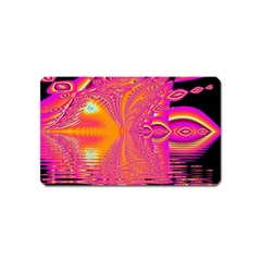 Magenta Boardwalk Carnival, Abstract Ocean Shimmer Magnet (name Card) by DianeClancy