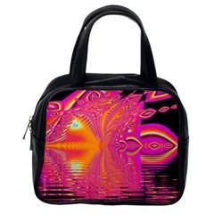 Magenta Boardwalk Carnival, Abstract Ocean Shimmer Classic Handbag (one Side) by DianeClancy