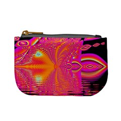 Magenta Boardwalk Carnival, Abstract Ocean Shimmer Coin Change Purse by DianeClancy