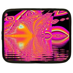 Magenta Boardwalk Carnival, Abstract Ocean Shimmer Netbook Sleeve (xxl) by DianeClancy