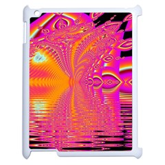 Magenta Boardwalk Carnival, Abstract Ocean Shimmer Apple Ipad 2 Case (white) by DianeClancy