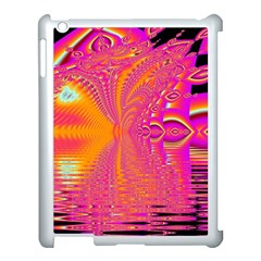 Magenta Boardwalk Carnival, Abstract Ocean Shimmer Apple Ipad 3/4 Case (white) by DianeClancy
