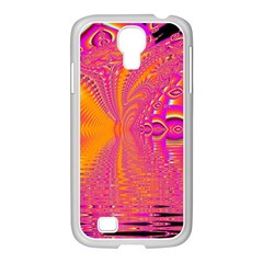 Magenta Boardwalk Carnival, Abstract Ocean Shimmer Samsung Galaxy S4 I9500/ I9505 Case (white) by DianeClancy
