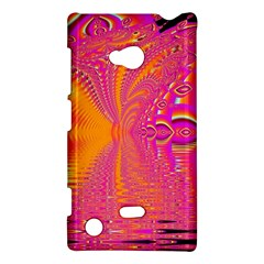 Magenta Boardwalk Carnival, Abstract Ocean Shimmer Nokia Lumia 720 Hardshell Case by DianeClancy
