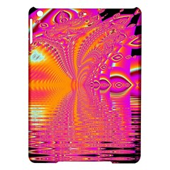 Magenta Boardwalk Carnival, Abstract Ocean Shimmer Apple Ipad Air Hardshell Case by DianeClancy