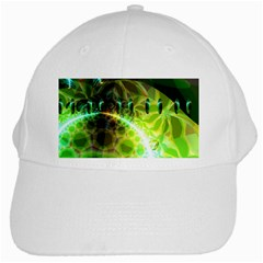 Dawn Of Time, Abstract Lime & Gold Emerge White Baseball Cap