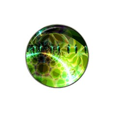 Dawn Of Time, Abstract Lime & Gold Emerge Golf Ball Marker (for Hat Clip)
