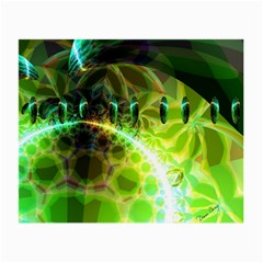 Dawn Of Time, Abstract Lime & Gold Emerge Glasses Cloth (small) by DianeClancy