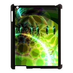 Dawn Of Time, Abstract Lime & Gold Emerge Apple Ipad 3/4 Case (black) by DianeClancy