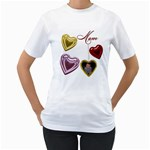 Mom Heart Locket Women s T-shirt Single side - Women s T-Shirt (White)
