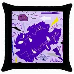 Life With Fibro2 Black Throw Pillow Case by FunWithFibro