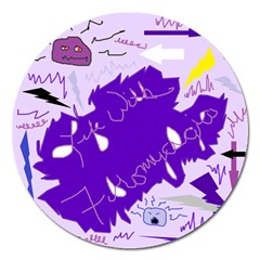 Life With Fibro2 Magnet 5  (round) by FunWithFibro