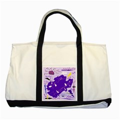 Life With Fibro2 Two Toned Tote Bag by FunWithFibro