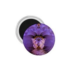 Artsy Purple Awareness Butterfly 1 75  Button Magnet by FunWithFibro