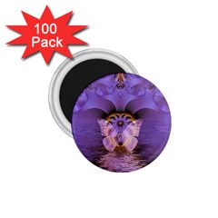 Artsy Purple Awareness Butterfly 1 75  Button Magnet (100 Pack) by FunWithFibro