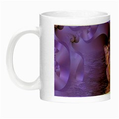 Artsy Purple Awareness Butterfly Glow In The Dark Mug by FunWithFibro