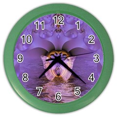 Artsy Purple Awareness Butterfly Wall Clock (color) by FunWithFibro