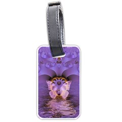 Artsy Purple Awareness Butterfly Luggage Tag (one Side) by FunWithFibro