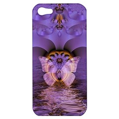 Artsy Purple Awareness Butterfly Apple Iphone 5 Hardshell Case by FunWithFibro