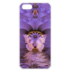 Artsy Purple Awareness Butterfly Apple Iphone 5 Seamless Case (white) by FunWithFibro