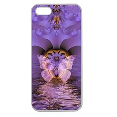 Artsy Purple Awareness Butterfly Apple Seamless Iphone 5 Case (clear) by FunWithFibro