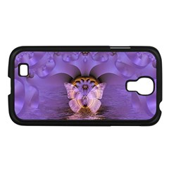Artsy Purple Awareness Butterfly Samsung Galaxy S4 I9500/ I9505 Case (black) by FunWithFibro