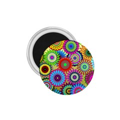 Psychedelic Flowers 1 75  Button Magnet by StuffOrSomething