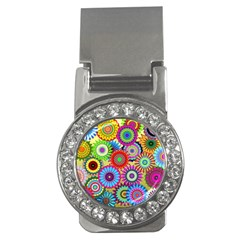 Psychedelic Flowers Money Clip (cz) by StuffOrSomething