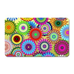 Psychedelic Flowers Magnet (rectangular) by StuffOrSomething